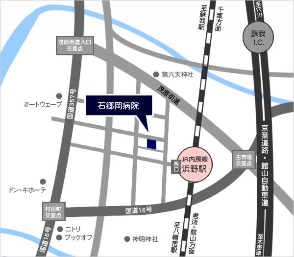 医療法人石郷岡病院(千葉市浜野)の地図