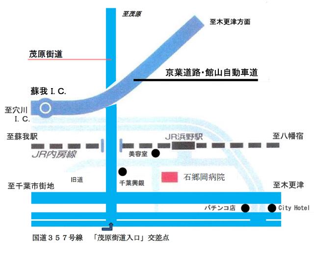 石郷岡病院の地図